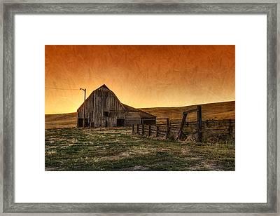 Memories Of Harvest Framed Print by Mark Kiver