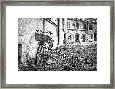Memories Of Italy Sketch Framed Print by Edward Fielding