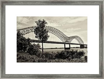 Memphis Bridge 1 Framed Print by Miguel Celis