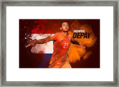 Memphis Depay Framed Print by Semih Yurdabak