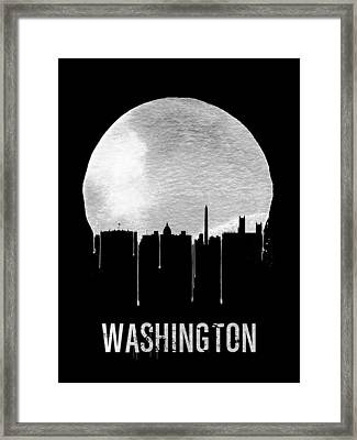 Memphis Skyline Black Framed Print by Naxart Studio