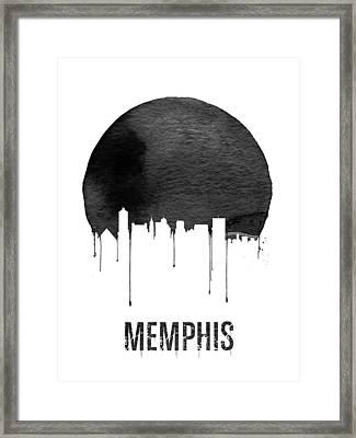 Memphis Skyline White Framed Print by Naxart Studio