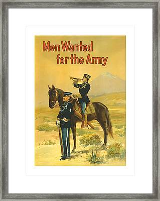 Men Wanted For The Army Framed Print by War Is Hell Store
