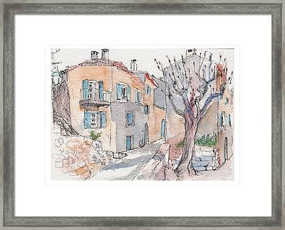 Menerbes Framed Print by Tilly Strauss