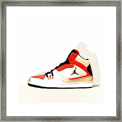 Mens Air Jordan High Tops 20160227 Square Framed Print by Wingsdomain Art and Photography