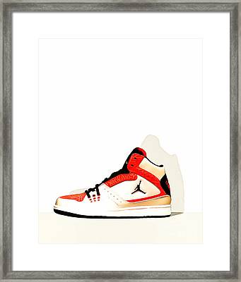 Mens Air Jordan High Tops 20160227 Framed Print by Wingsdomain Art and Photography