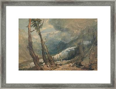 Mer De Glace In The Valley Of Chamouni Switzerland Framed Print by Joseph Mallord William Turner