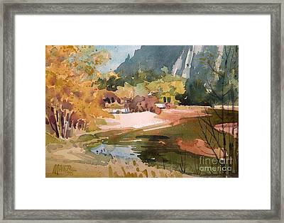 Merced River Encounter Framed Print by Donald Maier