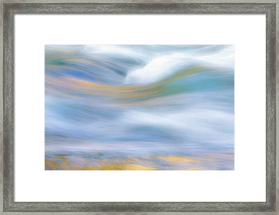 Merced River Reflections 19 Framed Print by Larry Marshall