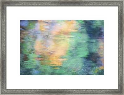 Merced River Reflections 7 Framed Print by Larry Marshall