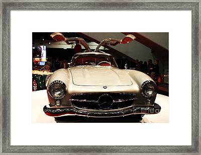 Mercedes 300sl Gullwing . Front View Framed Print by Wingsdomain Art and Photography