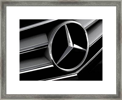 Mercedes Badge Framed Print by Douglas Pittman