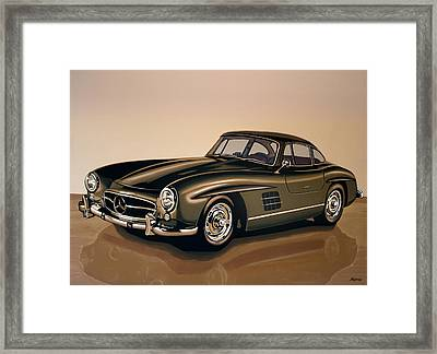 Mercedes Benz 300 Sl 1954 Painting Framed Print by Paul Meijering