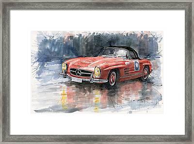 Mercedes Benz 300sl Framed Print by Yuriy  Shevchuk