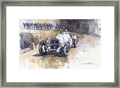 Mercedes Benz Ssk 1930 Rudolf Caracciola Framed Print by Yuriy  Shevchuk