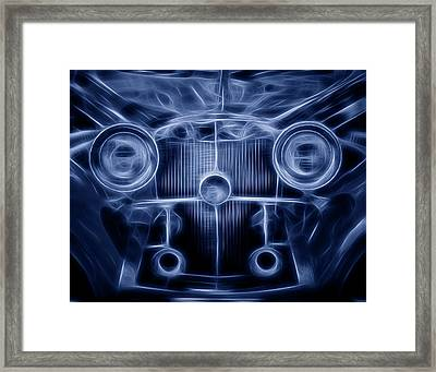 Mercedes Roadster Framed Print by Tom Mc Nemar