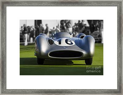 Mercedes W 196 R Streamliner Framed Print by Dennis Hedberg
