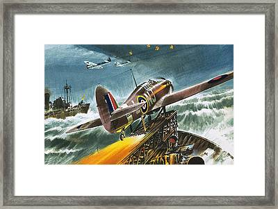Merchant Navy Fighter Framed Print by Wilf Hardy