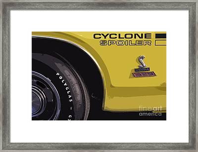 Mercury Cyclone Framed Print by Dennis Hedberg