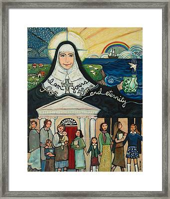 Mercy Foundress Catherine Mcauley Framed Print by Jen Norton