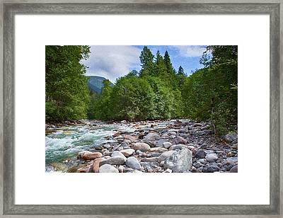 Merging Rivers And Many Rocks Landscape Photography By Omashte Framed Print by Omaste Witkowski
