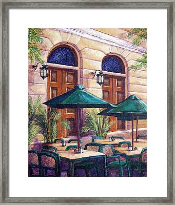 Merida Cafe Framed Print by Candy Mayer