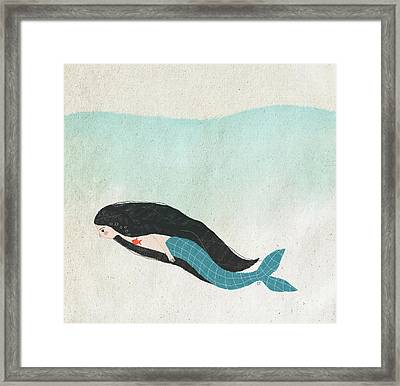 Mermaid Framed Print by Carolina Parada