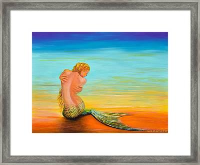 Mermaid Framed Print by Gina De Gorna