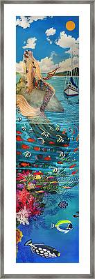 Mermaid In Paradise Framed Print by Bonnie Siracusa