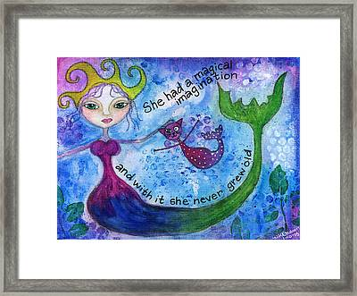 Mermaid Queen Framed Print by Holly Dodson