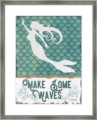 Mermaid Waves 1 Framed Print by Debbie DeWitt