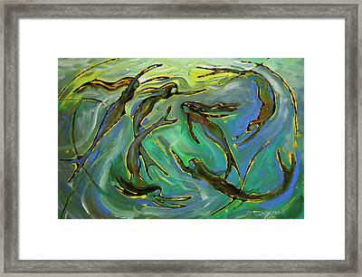 Mermaids Framed Print by Frank Robert Dixon