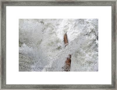 Merrimack River, Lowell Ma Framed Print by Karyn Regal