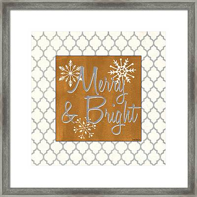 Merry And Bright Framed Print by Debbie DeWitt