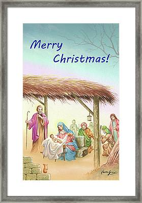 Merry Christmas 001 Framed Print by Laura Greco
