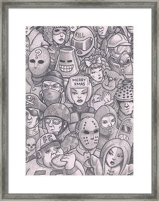 Merry Christmas 2015 - Chaos Eve Framed Print by Hermit