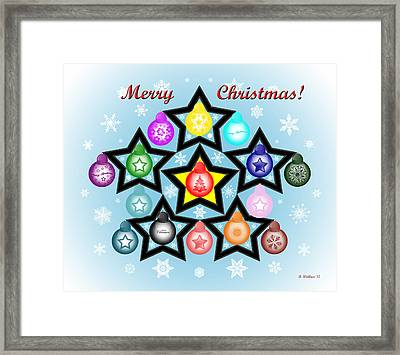 Merry Christmas Framed Print by Brian Wallace