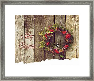 Merry Christmas. Framed Print by Kelly Nelson