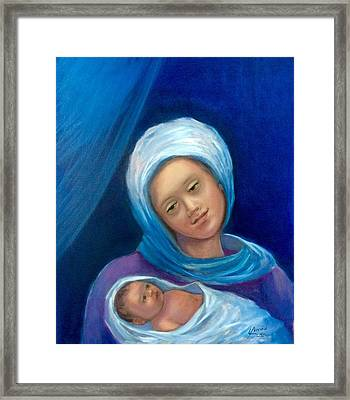 Merry Christmas Framed Print by Laila Awad Jamaleldin