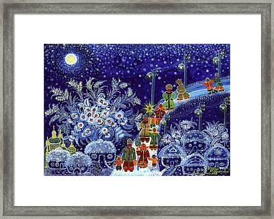 Merry Christmas Framed Print by Olena Kulyk