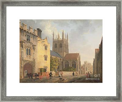 Merton College - Oxford Framed Print by Michael Rooker