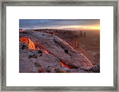 Mesa Arch Sunrise II Framed Print by Jeff Clay