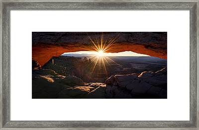 Mesa Glow Framed Print by Chad Dutson