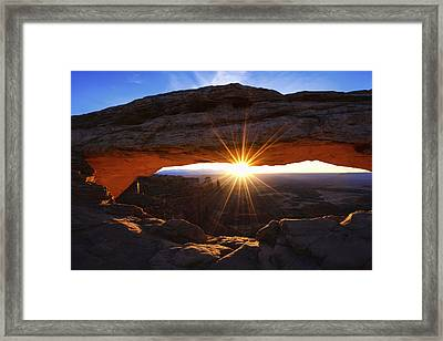 Mesa Sunrise Framed Print by Chad Dutson
