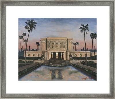 Mesa Temple Framed Print by Jeff Brimley