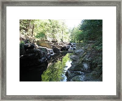 Meshoppen Creek Framed Print by Harry  Kellow