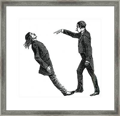 Mesmerism, 19th Century Framed Print by Science Source