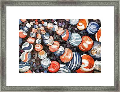 Mesmerizing Marbles Framed Print by Cheryl Rose