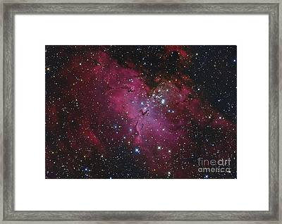 Messier 16, The Eagle Nebula In Serpens Framed Print by Roberto Colombari