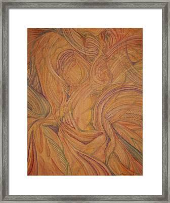 Meta Framed Print by Caroline Czelatko